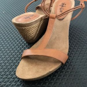 Style & Co Womens Sandler's Used size 7 Wedge